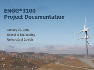 ENGG*3100 Project Documentation