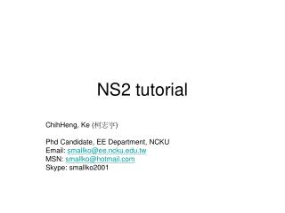 NS2 tutorial
