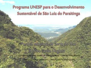 Programa UNESP para o Desenvolvimento Sustentável de São Luiz do Paraitinga