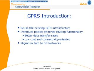 GPRS Introduction: