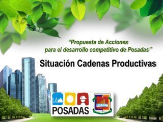 """""""Propuesta de Acciones  para el desarrollo competitivo de Posadas"""" Situación Cadenas Productivas"""