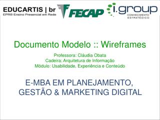 Documento Modelo :: Wireframes