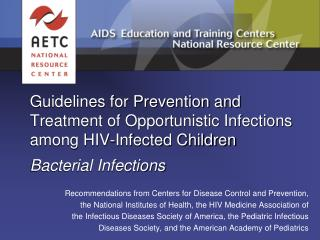 Recommendations from Centers for Disease Control and Prevention,