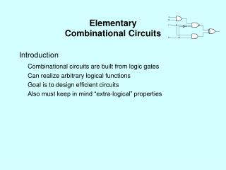 Elementary  Combinational Circuits