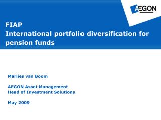 FIAP  International portfolio diversification for pension funds
