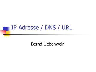 IP Adresse / DNS / URL