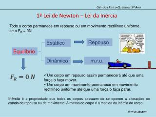 1ª Lei de Newton – Lei da Inércia