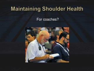Maintaining Shoulder Health