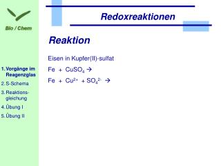 Reaktion