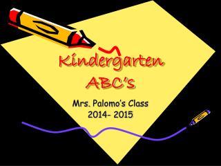 Kindergarten ABC's