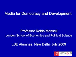Media for Democracy and Development