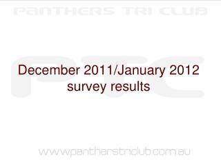 December 2011/January 2012 survey results