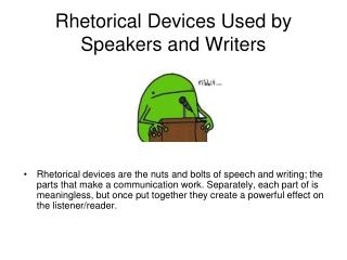 Rhetorical Devices Used by Speakers and Writers