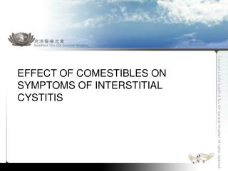 Effect of Comestibles on Symptoms of Interstitial Cystitis