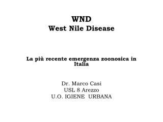 WND West Nile Disease