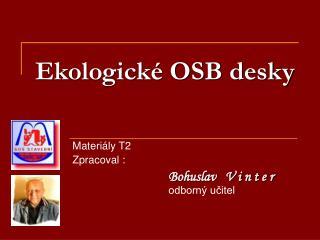 Ekologické OSB desky