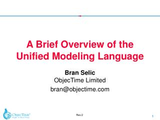 A Brief Overview of the Unified Modeling Language