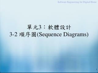 單元 3 :軟體設計 3-2  順序圖 (Sequence Diagrams)