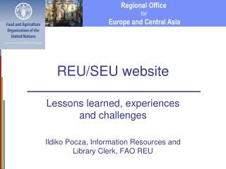 REU/SEU website