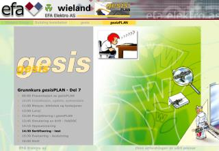 Grunnkurs  gesis PLAN - Del 7 09:00 Presentasjon av  gesis PLAN