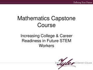 Mathematics Capstone Course