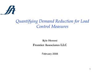 Quantifying Demand Reduction for Load Control Measures