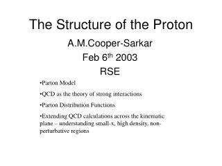 The Structure of the Proton