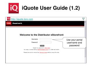 iQuote User Guide (1.2)