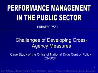 Challenges of Developing Cross-Agency Measures