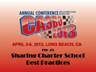 FIN -23 Sharing Charter School Best Practices