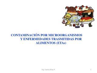CONTAMINACIÓN POR MICROORGANISMOS  Y ENFERMEDADES TRASMITIDAS POR ALIMENTOS (ETAs)