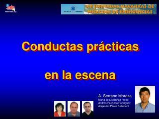 Conductas prácticas en la escena