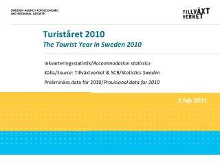 Turiståret 2010  The Tourist Year in Sweden 2010