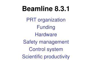 Beamline 8.3.1