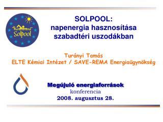 S OLPOOL: napenergia hasznosítása  szabadtéri uszodákban