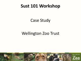 Sust 101 Workshop