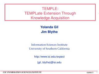 TEMPLE: TEMPLate Extension Through  Knowledge Acquisition