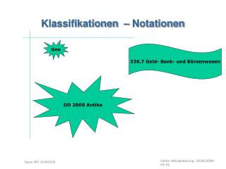 Klassifikationen  – Notationen