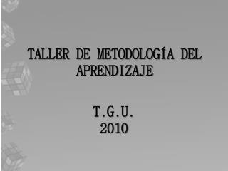 TALLER DE METODOLOGÍA DEL APRENDIZAJE