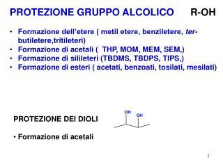 PROTEZIONE GRUPPO ALCOLICO       R-OH