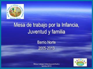 Mesa trabajo Infancia,juventud y familia 2013