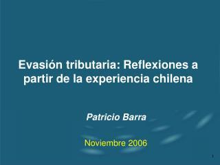Evasión tributaria: Reflexiones a partir de la experiencia chilena