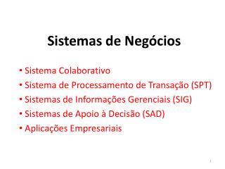 Sistemas de Negócios