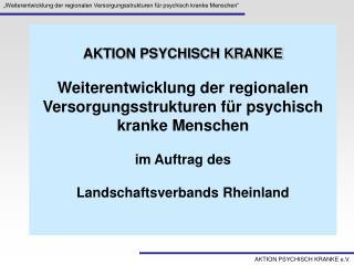 AKTION PSYCHISCH KRANKE