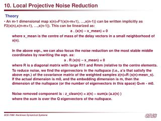 10. Local Projective Noise Reduction