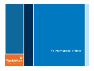 The International Profiler