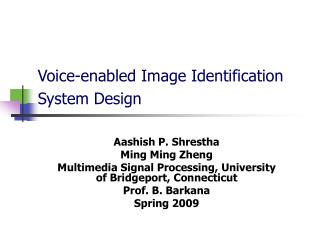 Voice-enabled Image Identification System Design