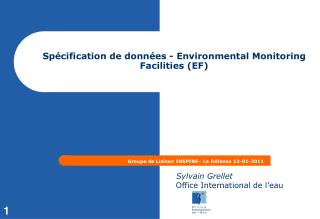 Sp�cification de donn�es - Environmental Monitoring  Facilities (EF)