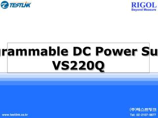 Programmable DC Power Supply VS220Q
