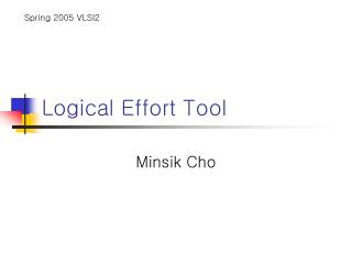 Logical Effort Tool